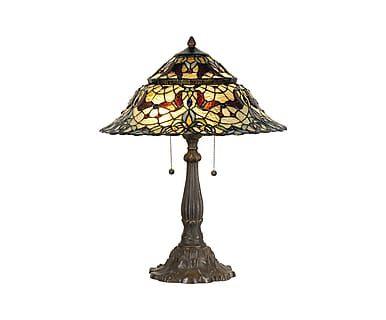 Tafellamp Ella, metaal/glas, H 65 cm