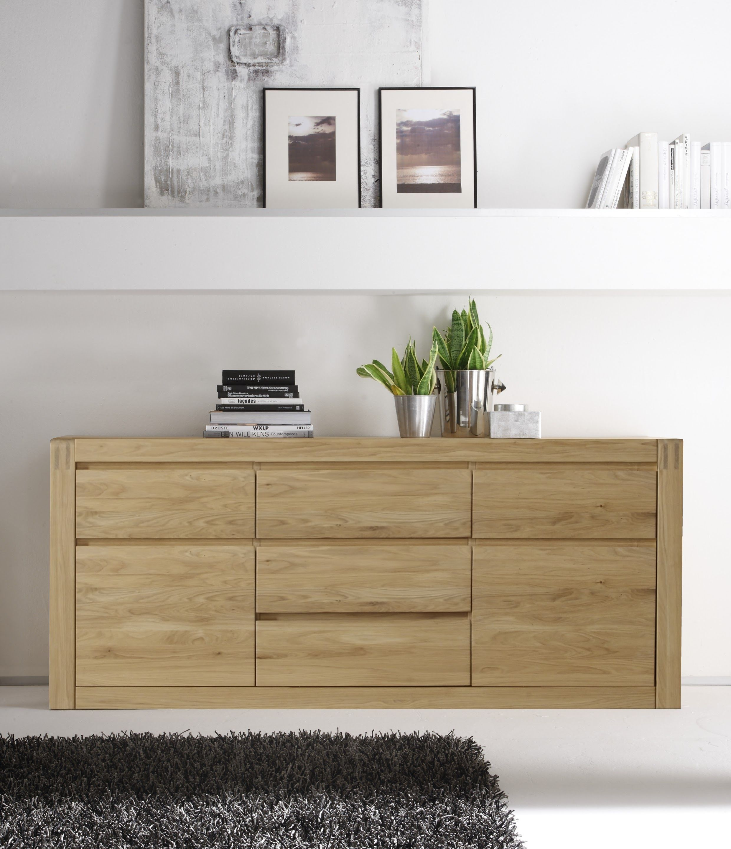 sideboard eiche bianco teilmassiv woody 35 00200 holz modern jetzt bestellen unter https. Black Bedroom Furniture Sets. Home Design Ideas