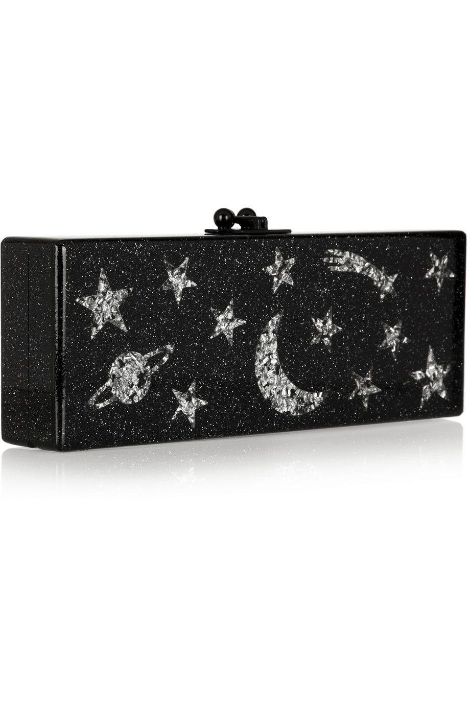 EDIE PARKER Flavia Solar System glittered acrylic box clutch £1,280