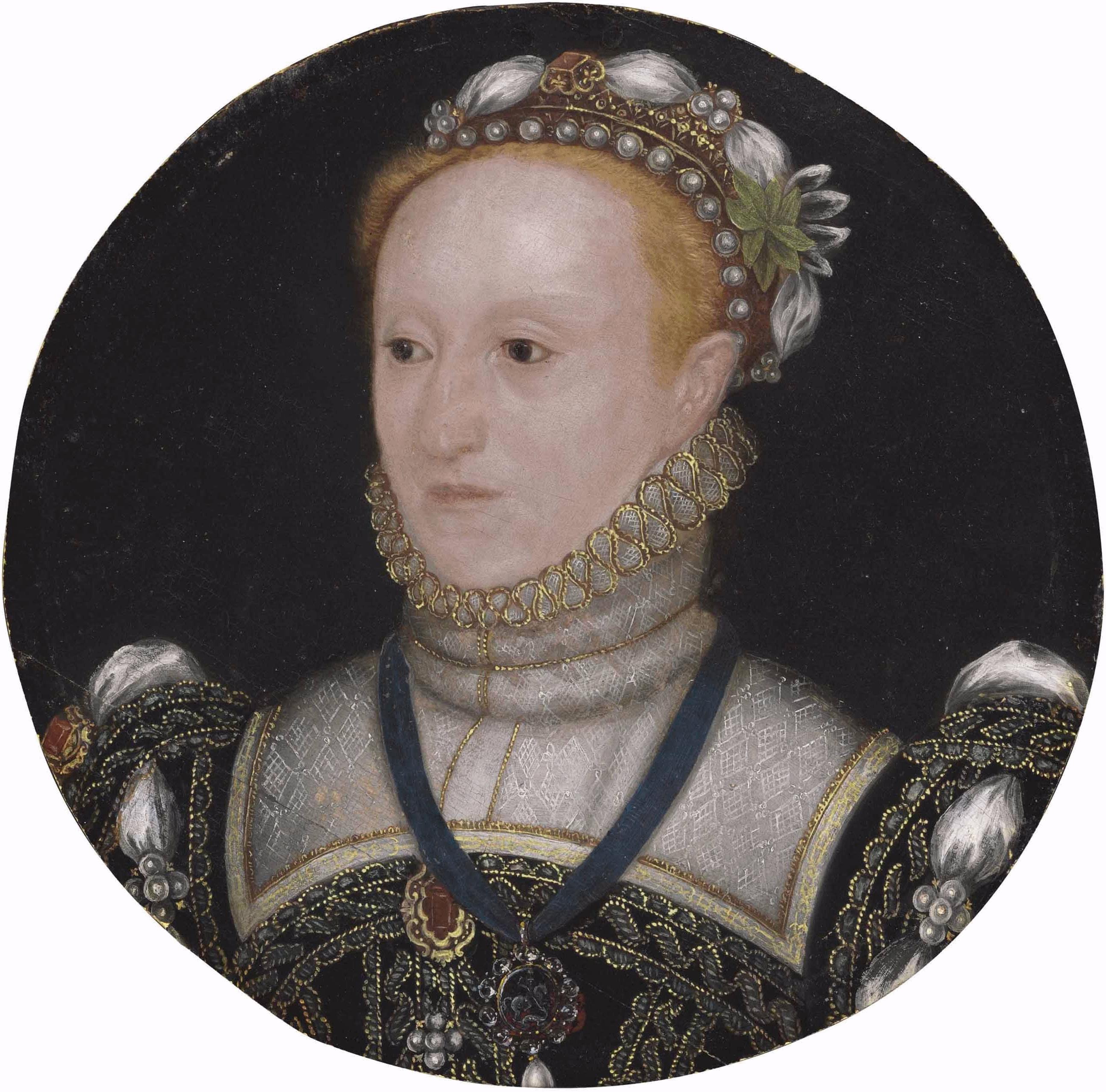 Queen Elizabeth I C 1563 English School Unknown Artist Medium Oil On Panel Dimensions Diameter 10 12 Elizabeth I Miniature Portraits Tudor History