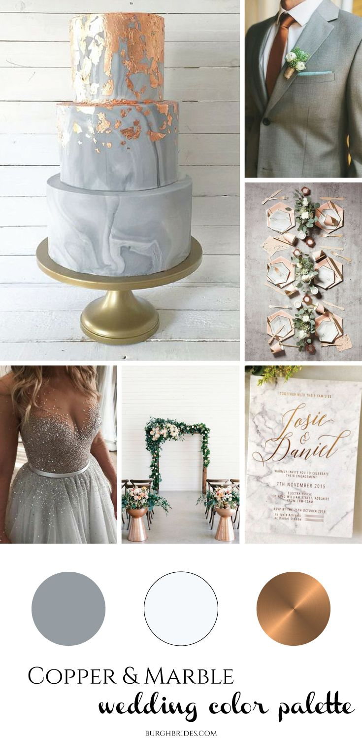 Copper & Marble Wedding Inspiration | Pinterest | Marbles ...