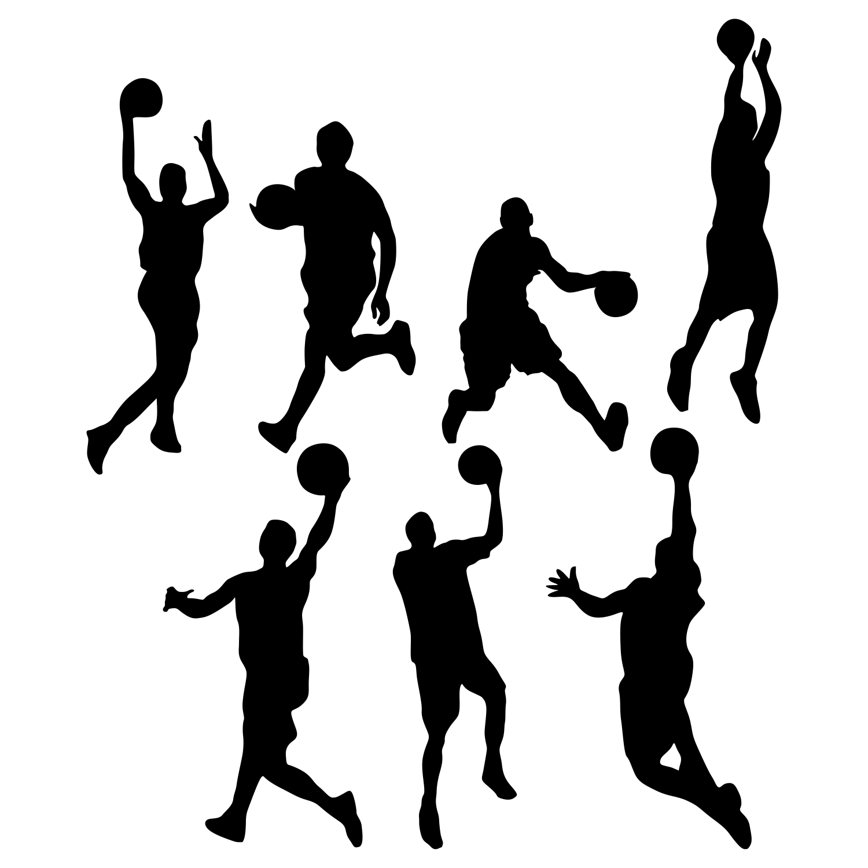 Pin Basketball Silhouettes Vector Stock 2700713 Bigstock