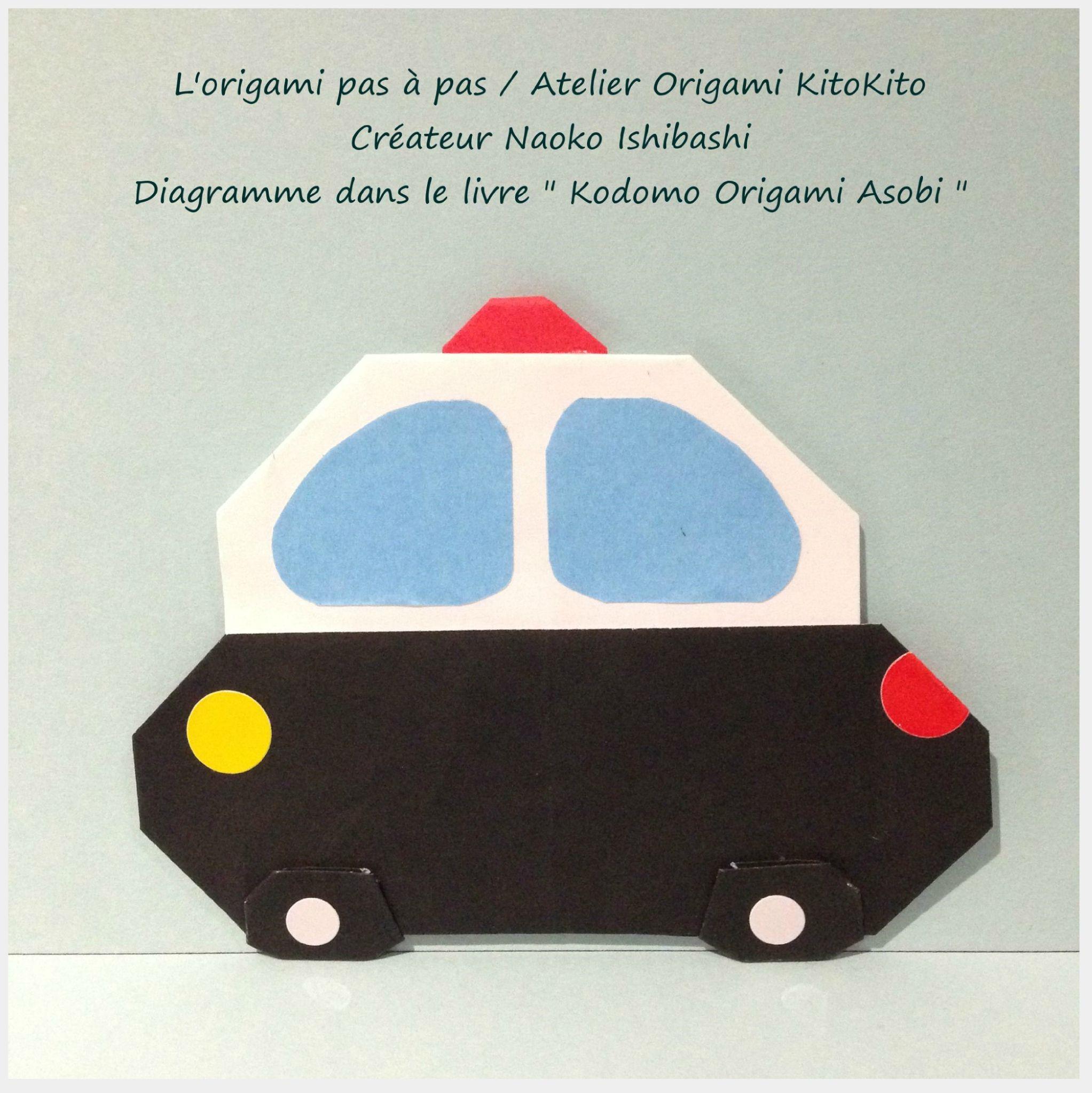 Atelier Origami KitoKito_Voiture de Police 1