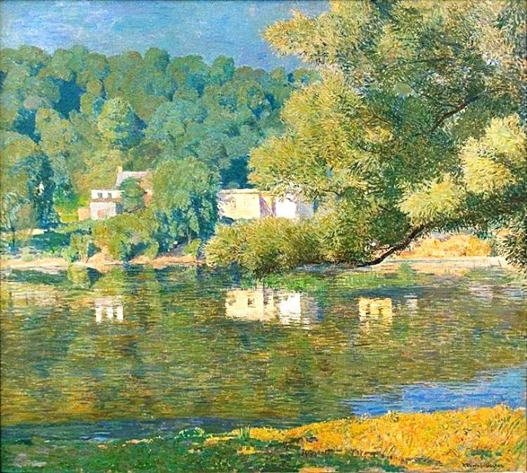 Landscape Painting by American Impressionist Artist Daniel Garber ~ Blog of an Art Admirer