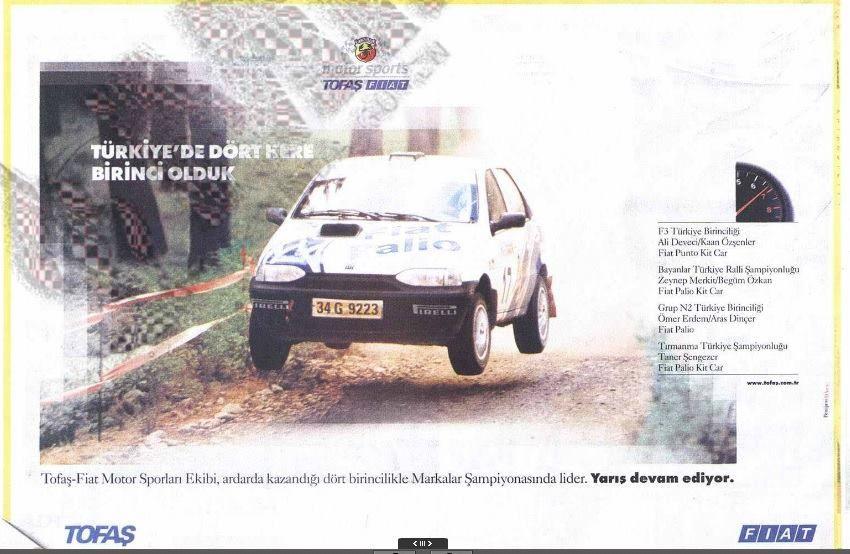 Tofas Fiat Abarth Motorsports Banner 2001 Otomobil Spor Tarih