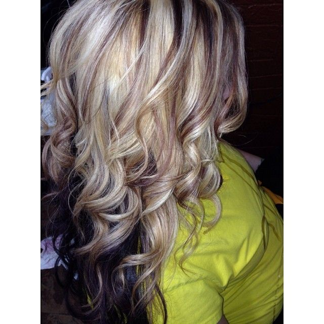 Blonde And Brown Highlights With A Dark Base All Things Hairr