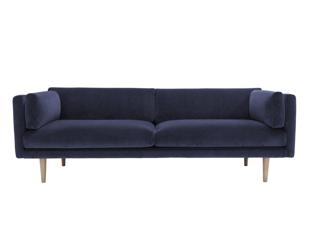 A SOFA. Dark blue velvet