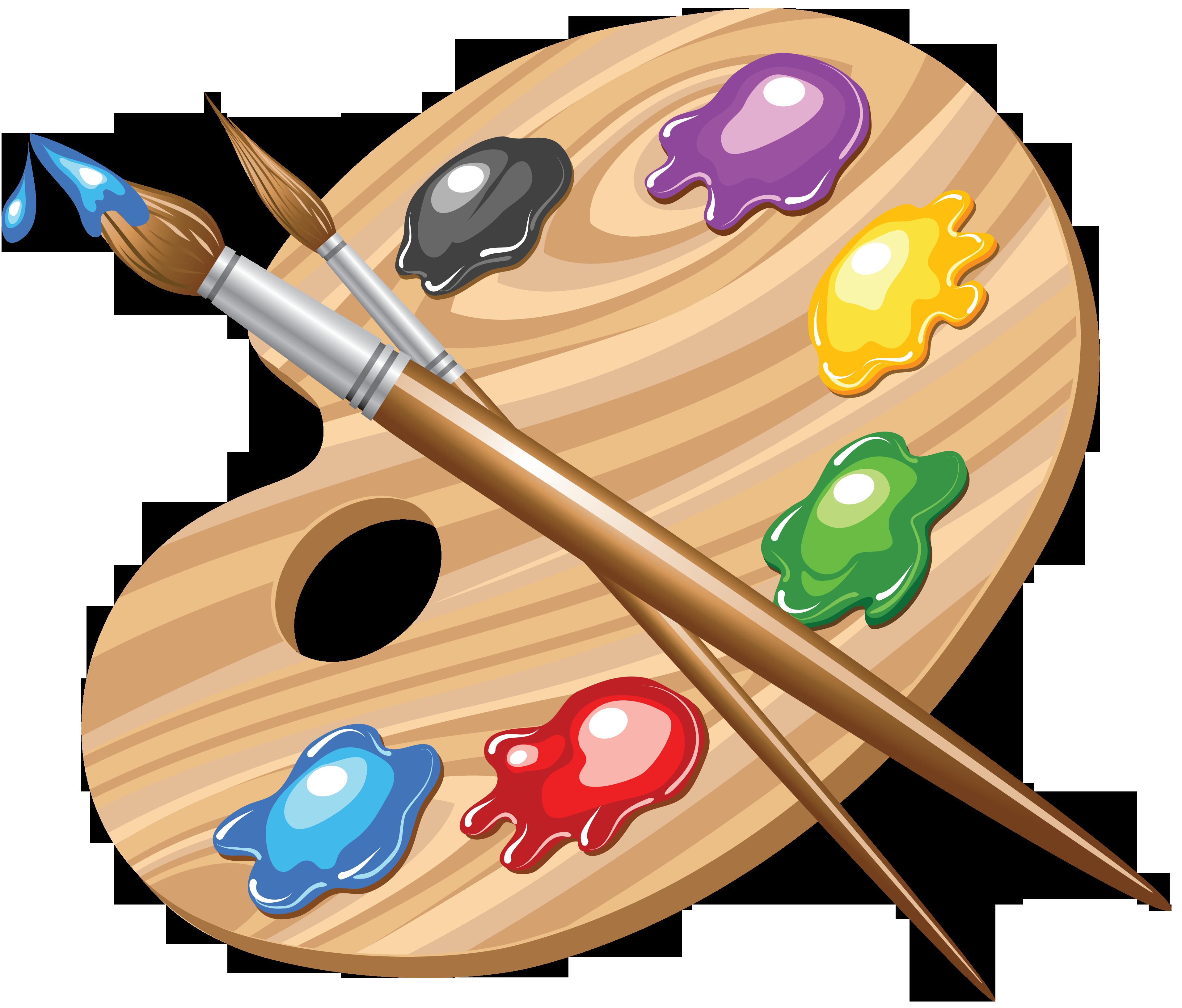 последнее время картинки кисти и краски для рисования основе
