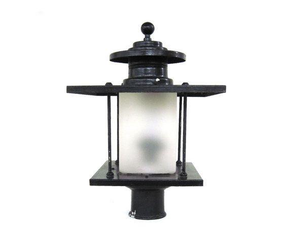 Artolier Exterior Lamp Post Light Fixture Lantern Yard Outdoor 1940s Architectural Salvage Lamp Post Lights Outdoor Light Fixtures Post Lights