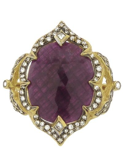 ♛ CATHY WATERMAN 'Arabesque' Ruby Ring