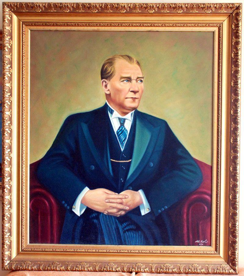 13 Ataturk Yagli Boya Tablosu Jpg Tablolar Resim Yagli Boya