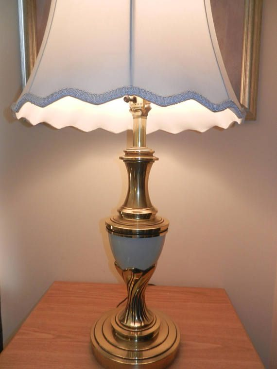 Solid brass stiffel lamp and a beautiful white
