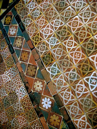 Medieval Floor Tiles, Probably 13th Century, Winchester Cathedral ...