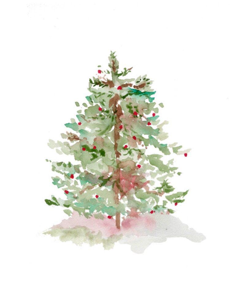 Pin By Tina Horn On Pink Christmas Christmas Watercolor Watercolor Christmas Cards Christmas Paintings