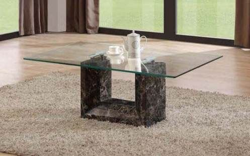 Marble Base Glass Top Coffee Table Marble Base Coffee Table