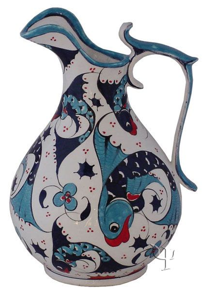 Iznik Design Ceramic Decanter