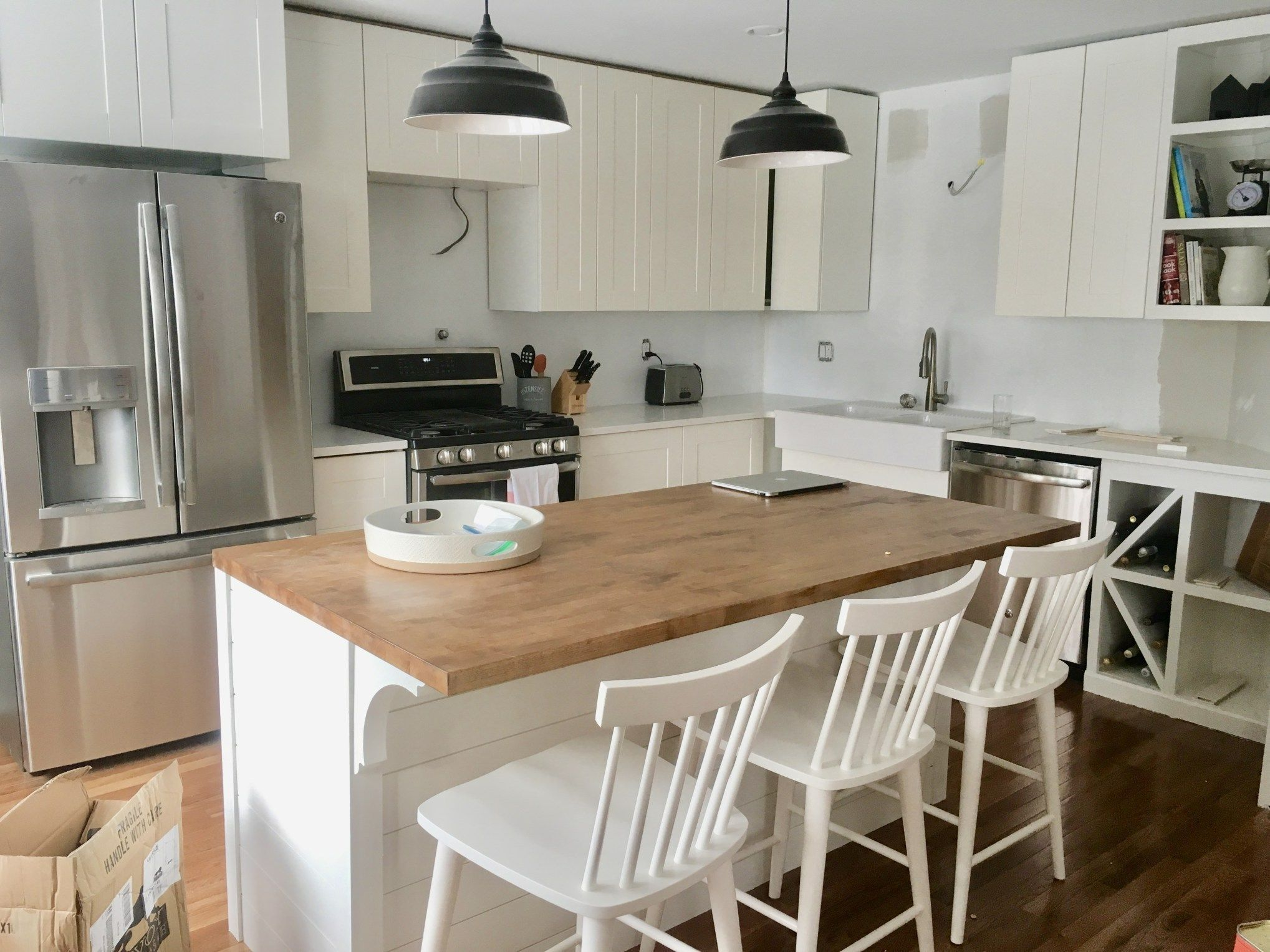 How To Build An Island Using Ikea Cabinets Ikea Kitchen Island Shiplap Kitchen Ikea Cabinets