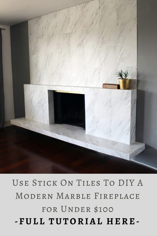 Diy This Modern Marble Fireplace For Under 100 Bucks