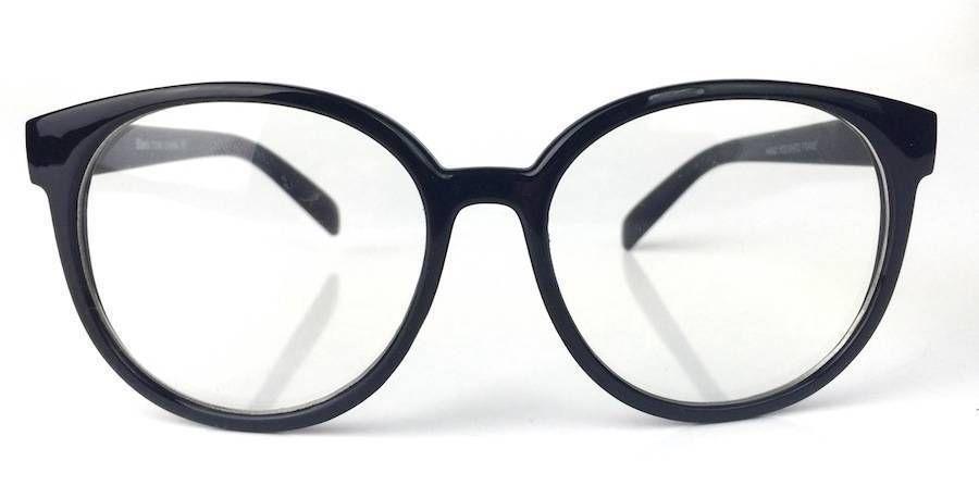 DE Clear Glasses Oval Round Plastic Frame Large Big Eyeglasses 100 ...