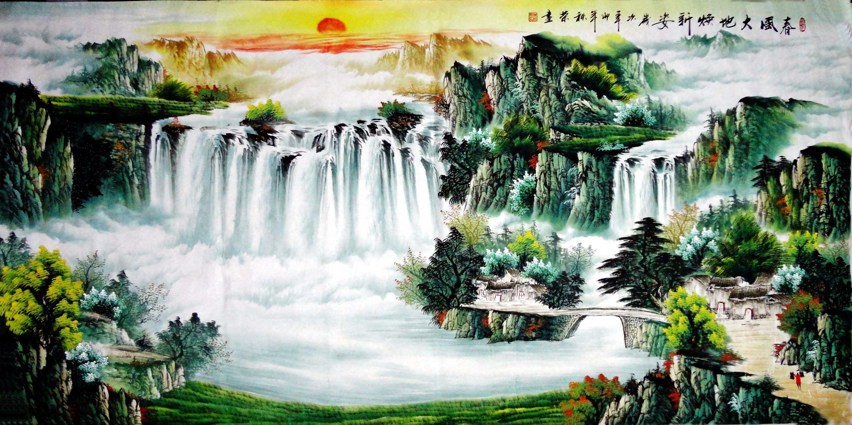 Chinese Landscape 04   Asian Cross Stitch   Pinterest