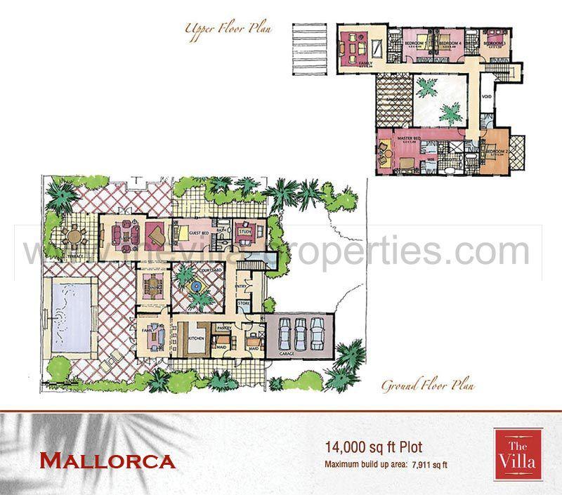 Mallorca Floor Plan The Villa Dubai – Dubai House Floor Plans