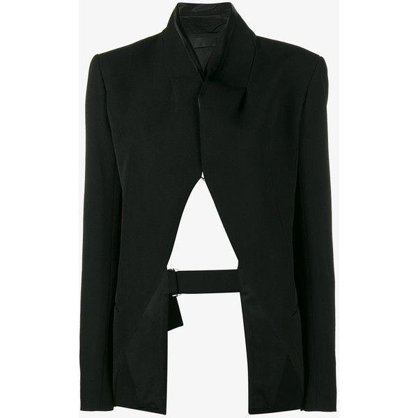 Cheap Haider Ackermann Black Open Back Blazer For Women