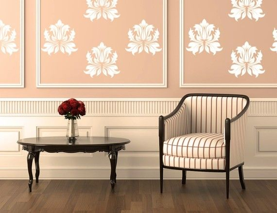 Victorian Damask Vinyl Decal Wall Art | For the Home ...