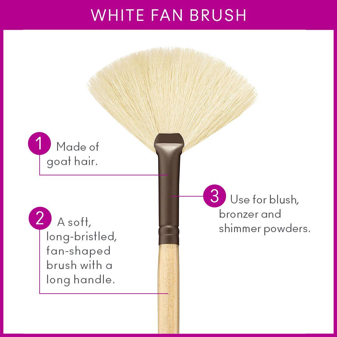 White Fan Brush In 2020 Fan Brush Brush Shimmer Powder
