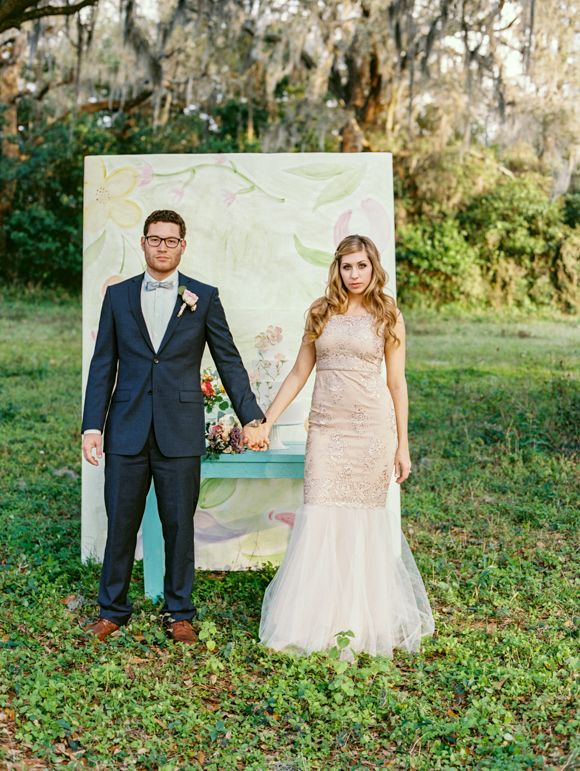 Romantic Watercolor Wedding Ideas | Wedding Sparrow | Emily Katharine Photography