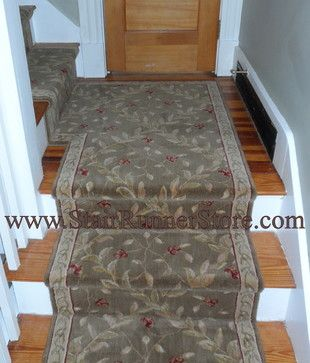 Stair Runner Installed With A Custom Fabricated Landing Creating A Continuous Installation On The Staircase All Stair Runner Buying Carpet Stair Runner Carpet