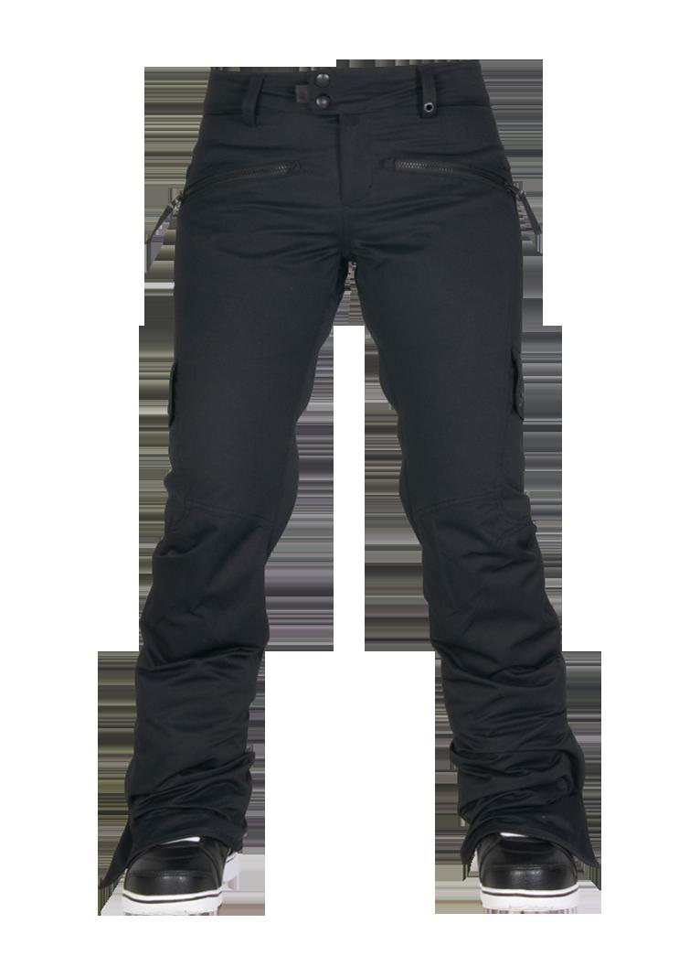 686 Womens Snowboard Pants Authentic Mistress Insulated Black Diamond Dobby