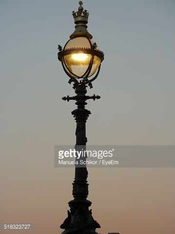View Of Old Fashioned Street Light | Street lights, Royalty free ...