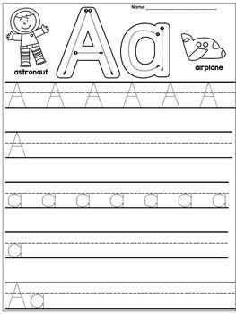 kindergarten handwriting practice alphabet handwriting. Black Bedroom Furniture Sets. Home Design Ideas