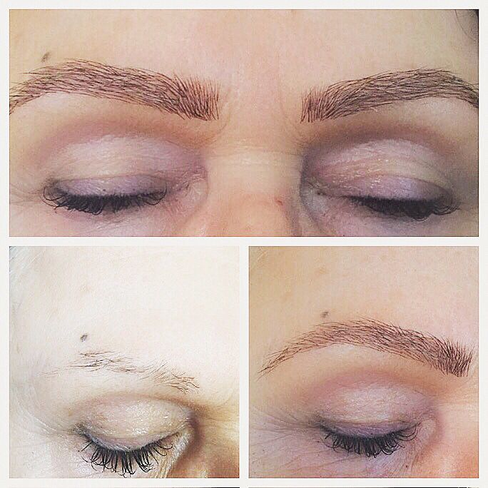 Before And After Pictures Of Eyebrow Extensions Done By Beauty By