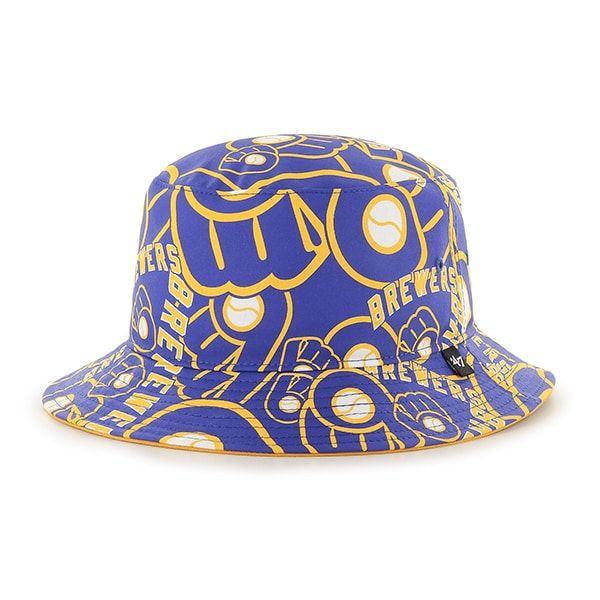 e053ead2ea5 Milwaukee Brewers Bravado Bucket White 47 Brand Hat