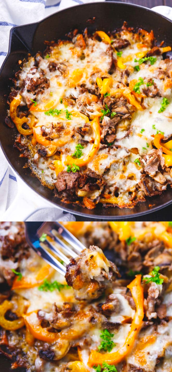 Photo of LOW CARB PHILLY CHEESESTEAK SKILLET