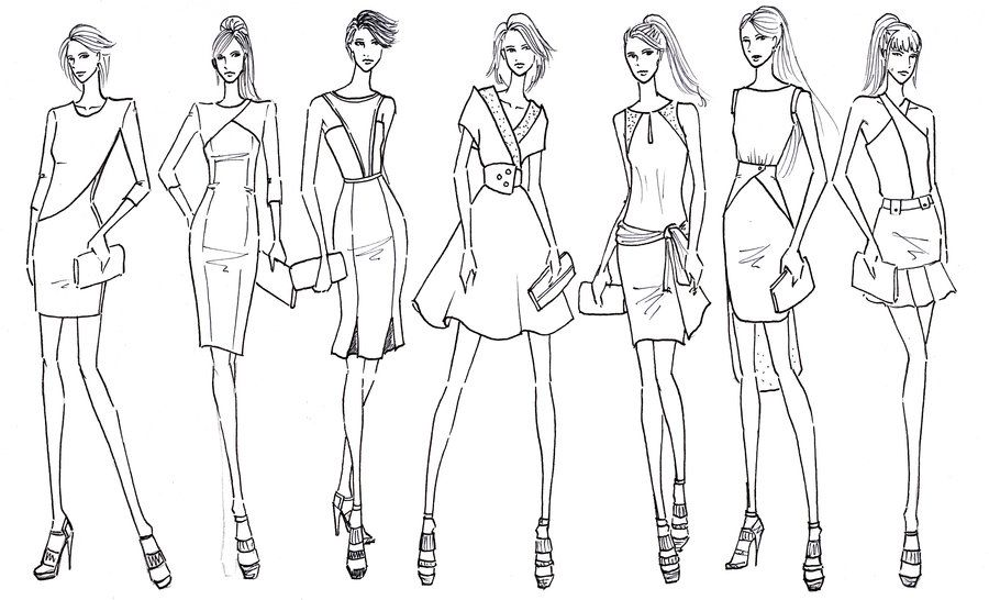 Fashion sketches designs have an important function in making ...