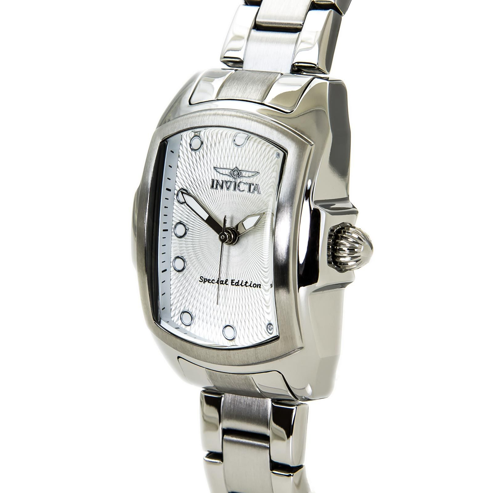 Small, dainty and petite with personality. Maybe like your mom?  Invicta 15842 Womens Baby Lupah Quartz Silver Dial Stainless Steel Bracelet Watch