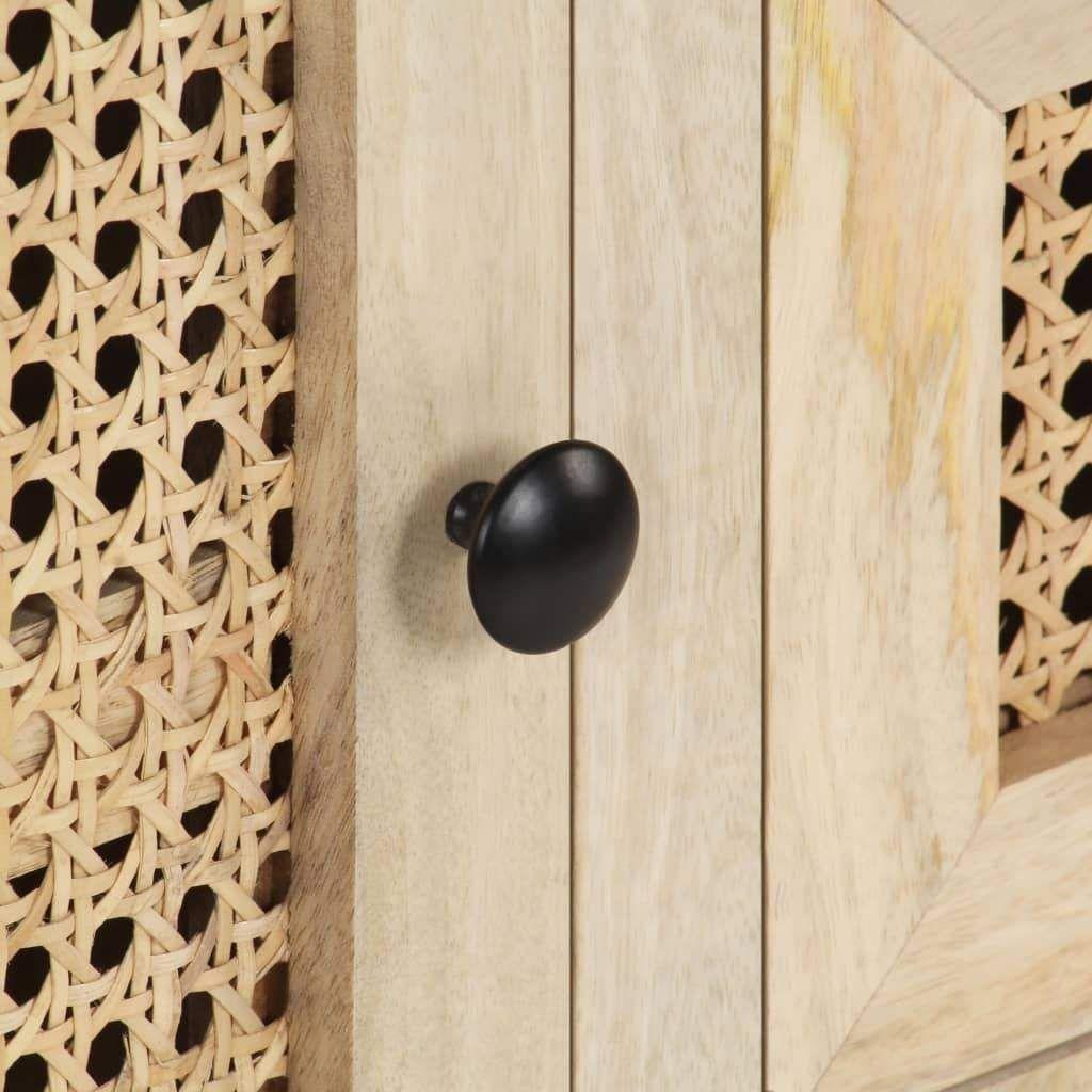 vidaXL Sideboard 60x35x70 cm Solid Mango Wood and Natural Ca…
