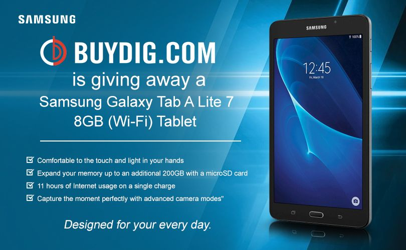 Buydig is giving away a samsung galaxy tab a lite tablet