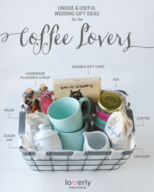 Give This Wedding Gift Ideas Perfect For Coffee Lovers Coffee Gift Basket Personalised Gifts Diy Gift Baskets