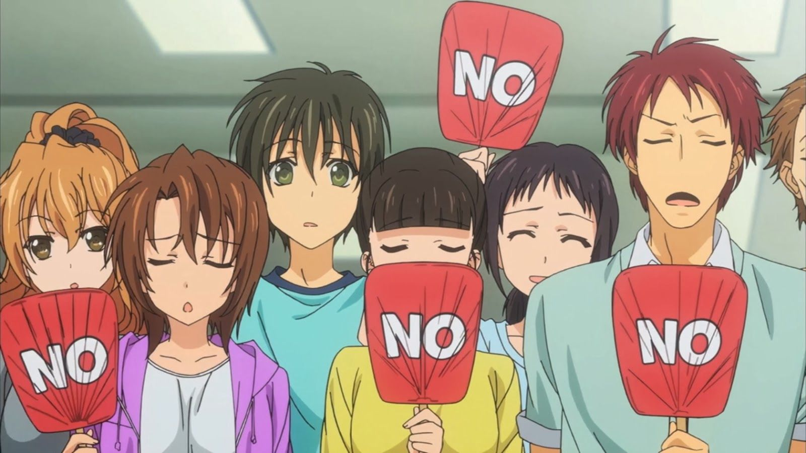 Eldely With No Fan : Golden time i love this part the senior made fans