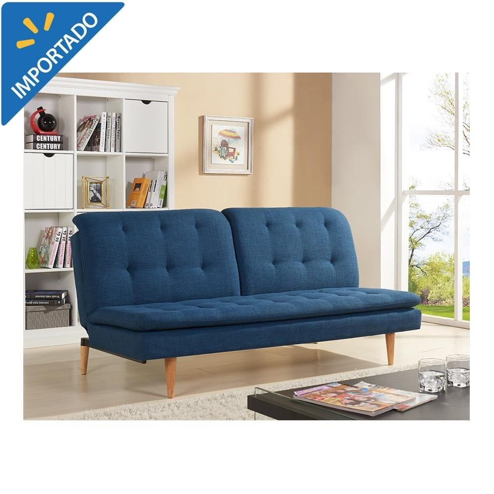 Www Walmart Com Mx Muebles Sofa Cama Sofas Cama Sofa Cama Mainstays Reclinable Azul 00489395600844 Cama Azul Muebles Camas