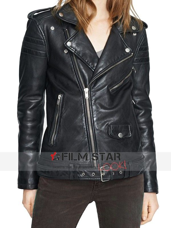 c2e1084f12 Beautiful Karlie Kloss wore this excellent Women's Karlie Kloss leather  jacket, made of 100% real leather with great features. Available now on  Sale at Film ...