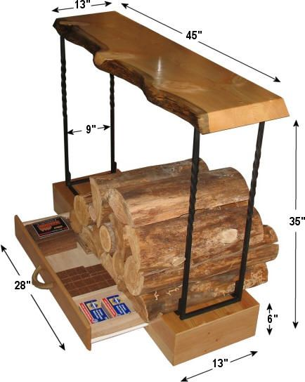 Greatest Rustic indoor firewood rack (note: scroll down on webpage for free  YJ31