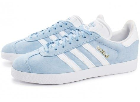 Chaussures adidas Gazelle W bleu ciel vue extérieure ...