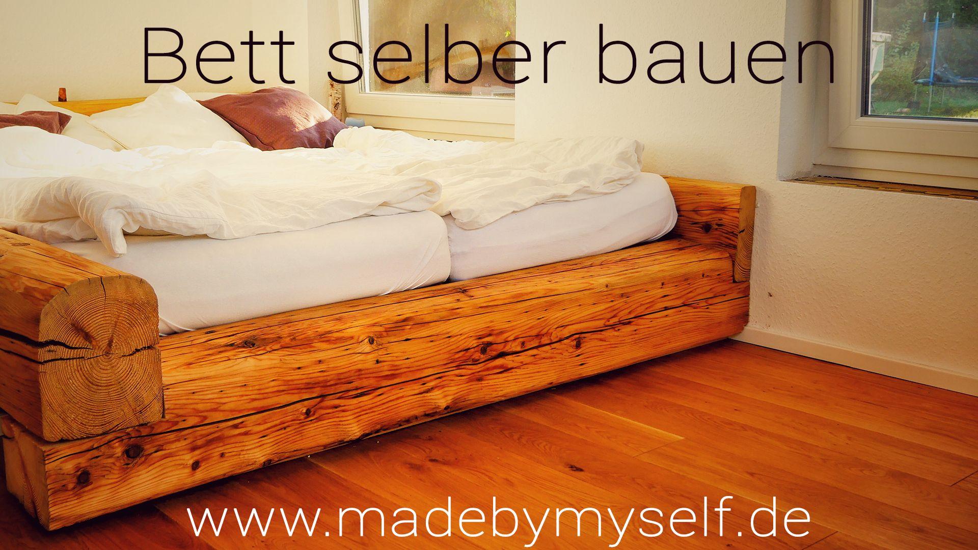 Balkenbett Bett Selber Bauen Bett Selber Bauen Bett Selber