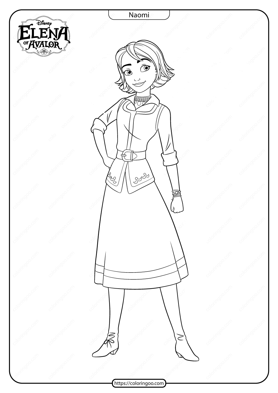 Printable Elena Of Avalor Naomi Coloring Pages Disney Character Drawings Coloring Pages Character Drawing
