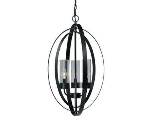 Newberry 3 Light 18125 Matte Black Chandelier At MenardsR