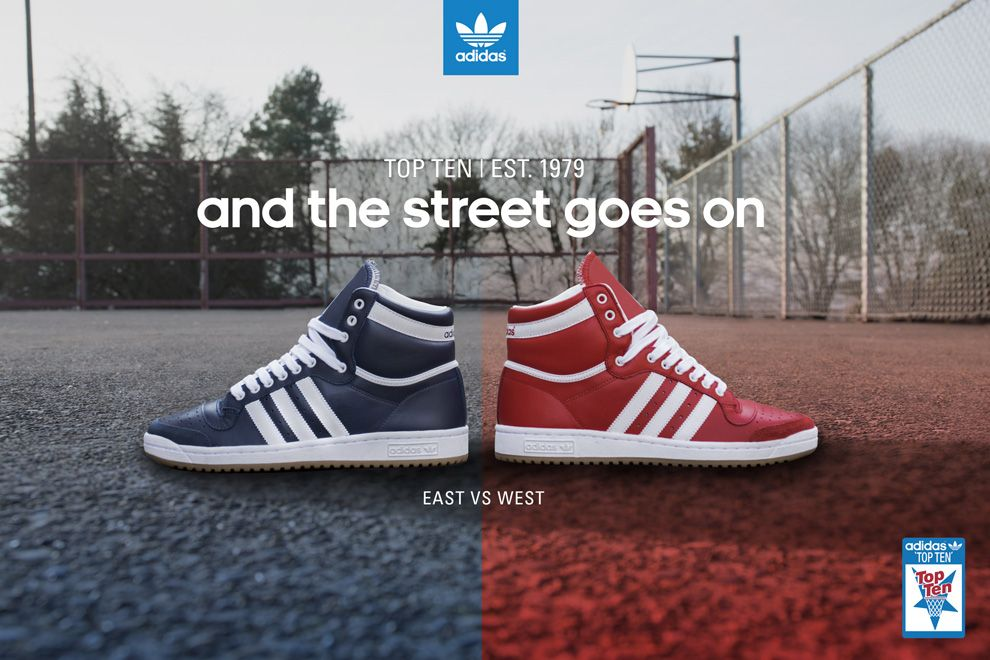 """cheaper 5d54f ce907 adidas Originals Top Ten Hi """"East vs. West"""" All-Star Game Pack"""